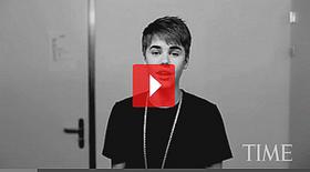 .  Justin s'exprime pour le Time Magazine. .
