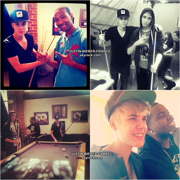 ".  03/09 -  Vidéo pour Briana + ""Beautiful"" + ""Just Getting Started"" + Justin en studio + Twitter. ."