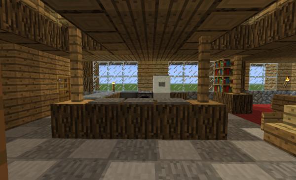 petite maison en bois 2 blog de construction minecraft. Black Bedroom Furniture Sets. Home Design Ideas