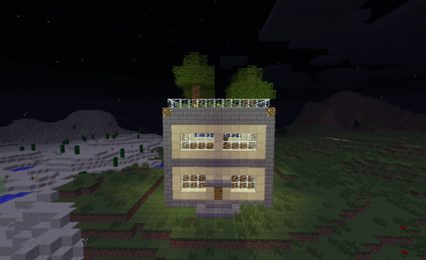Maison avec jardin sur le toit blog de construction minecraft for Construction de maison sur minecraft