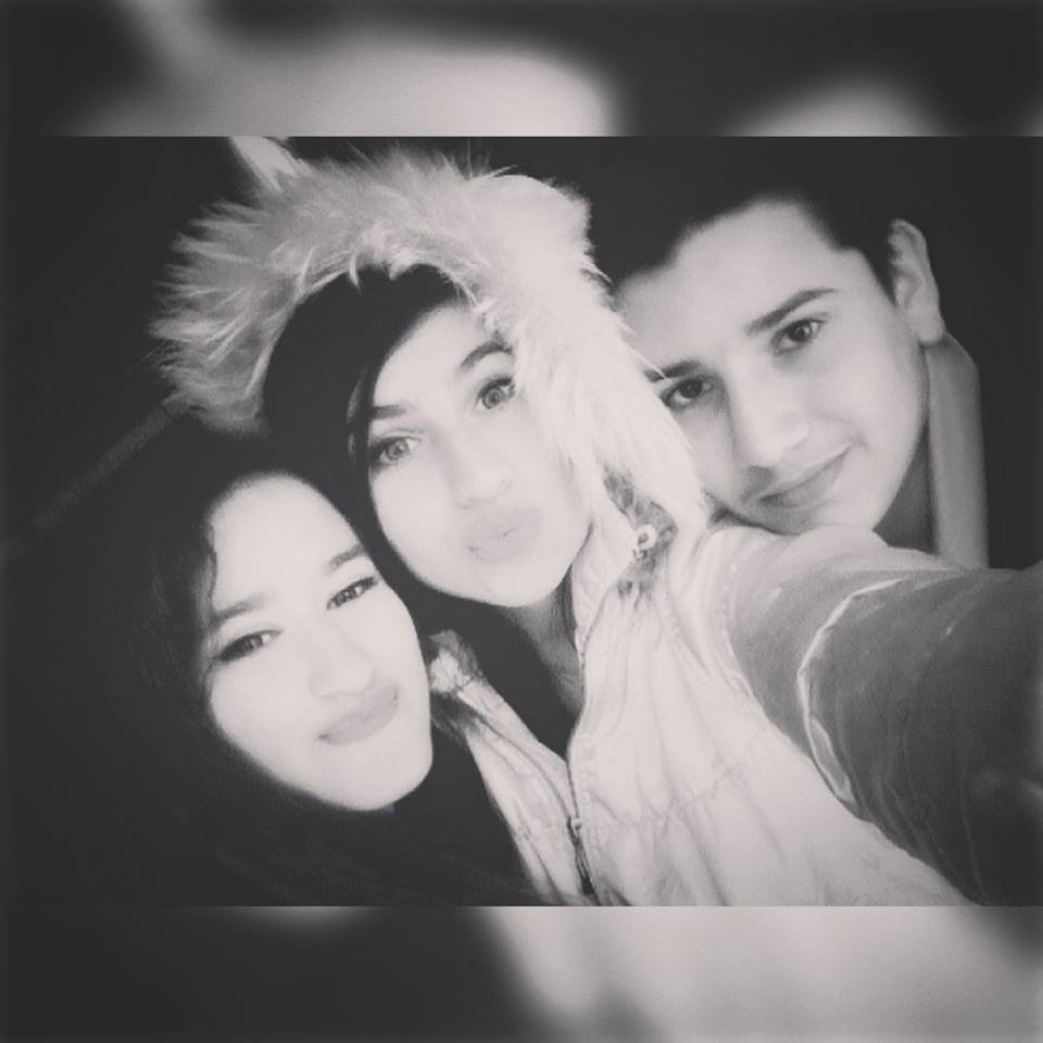 with my sister and her friends