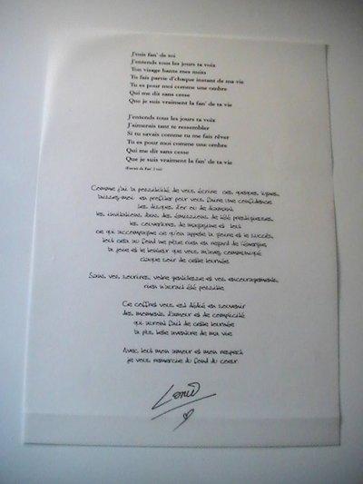lettre lorie