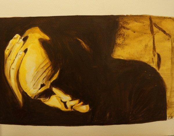 Marlon Brando dans Apocalypse Now ; acrylique