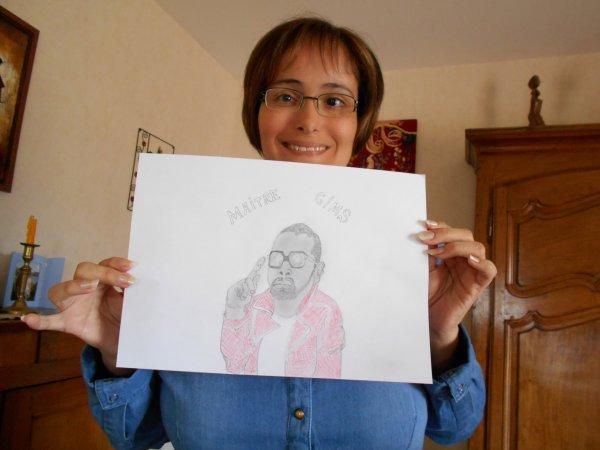 Coucou à vous, j'ai l'honneur de vous présenter un portrait de Célébrité que j'ai fais cet après-midi