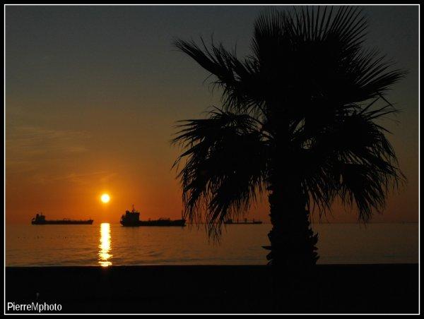 Coucher de soleil à Port de bouc