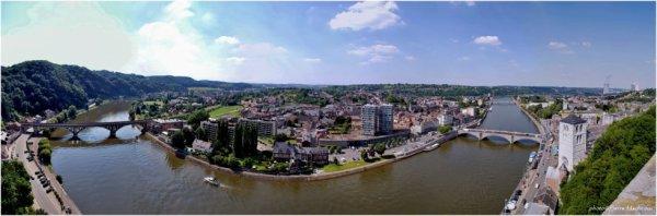 Panorama ville de Huy