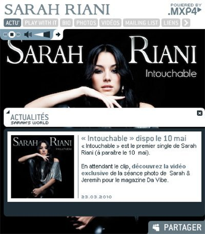 Sarah Riani Officiel Blog