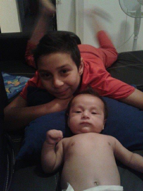 mes 2 petit  homme