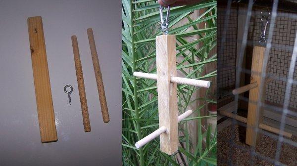 aujourd'huit fabrication d'un perchoir balancier