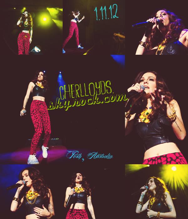 01/11/12 : Cher faisait la 1ere patie du 'Hot Chelle Rae Tour' à Perth en Australie.
