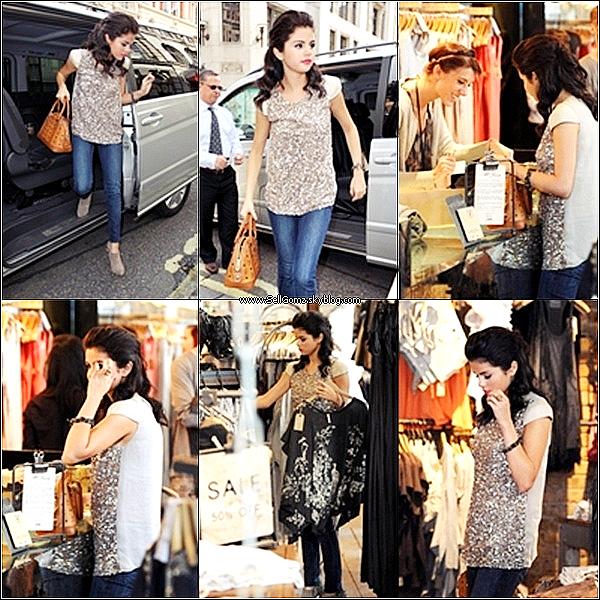 .Le 06.07.11 :___ Selena qui est toujours à Londres, a été revu arrivant à son hotêl encore. Selena est très belle. Là cette fois, j'aime beaucoup la tenue, elle rend mieux et j'aime la veste. Sa coiffure, j'adore. TOP !Vos avis ?! .