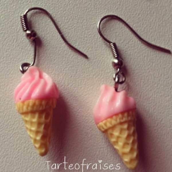 Boucle d'oreille glace crooo mimi