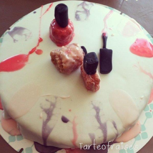 Gâteau vernis inspiré par Fashion Cooking