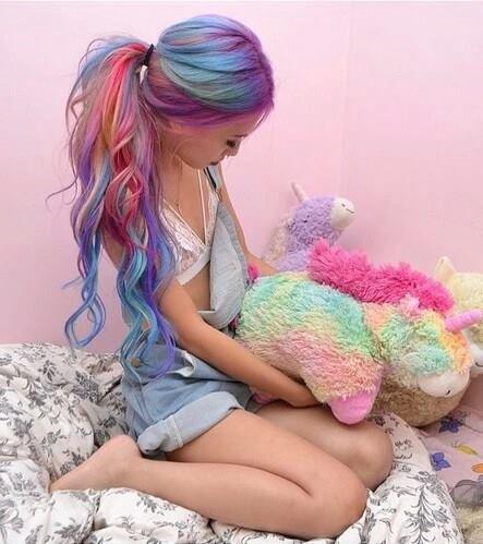 Des que je peux je fais ça dans mes cheveux *^*