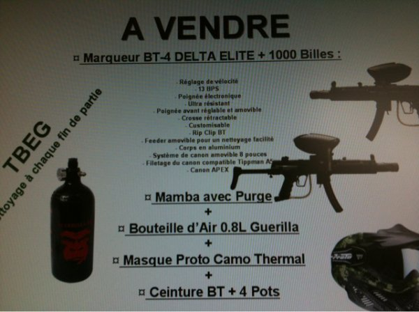 a vendre !! cause passage airsoft :)