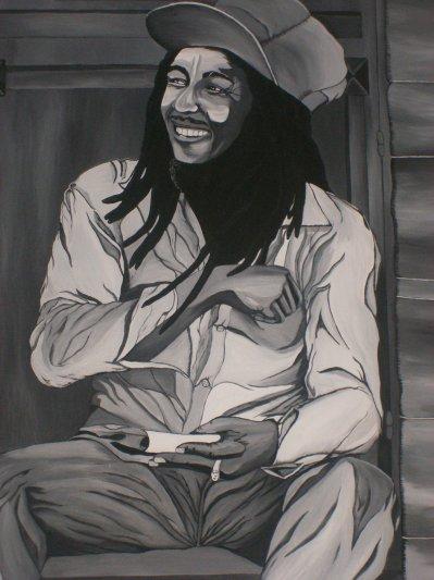 bob Marley devant chez moi !! lol! by tatatron !!!