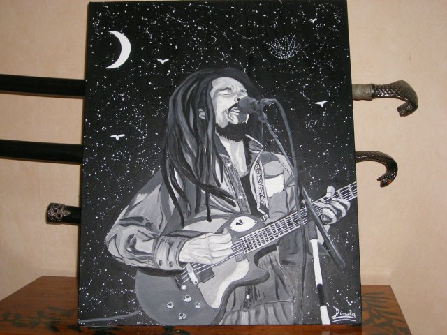 Bob Marley By linda Tatatron !!! get up stand up !
