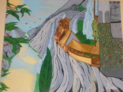 maison dans les rochers!! création originale by Tatatron linda !!
