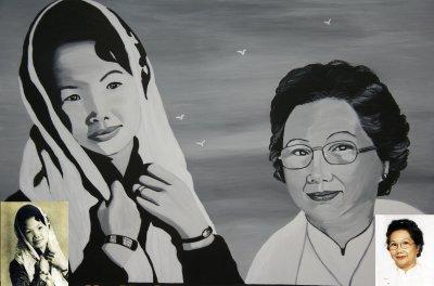 c'est la même personne !!! 50 ans d'écart entre les deux photos !!! By linda Tatatron !! respect à Madame Kong A Siou !!