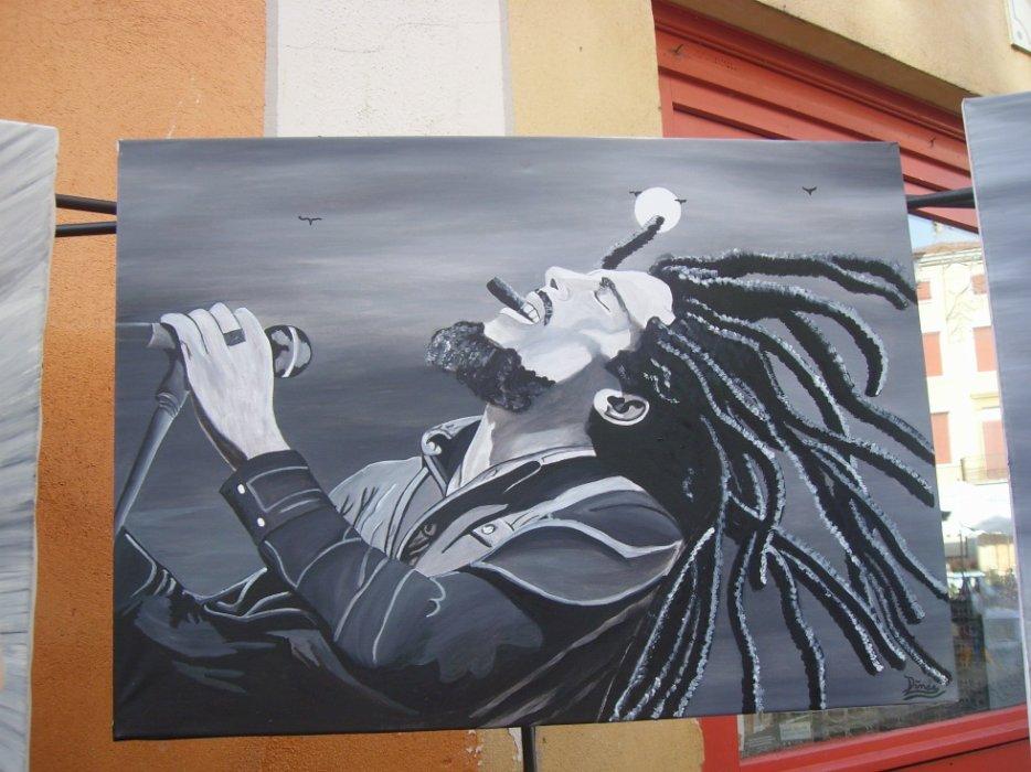 Bob Marley création originale by linda Tatatron !!!