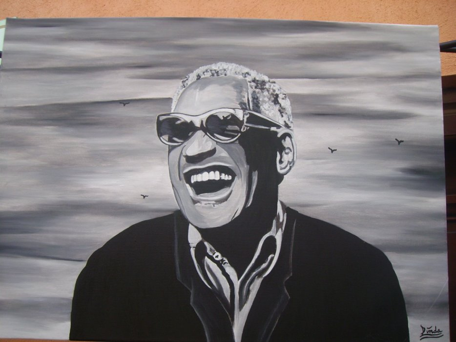 Ray Charles By linda Tatatron !!
