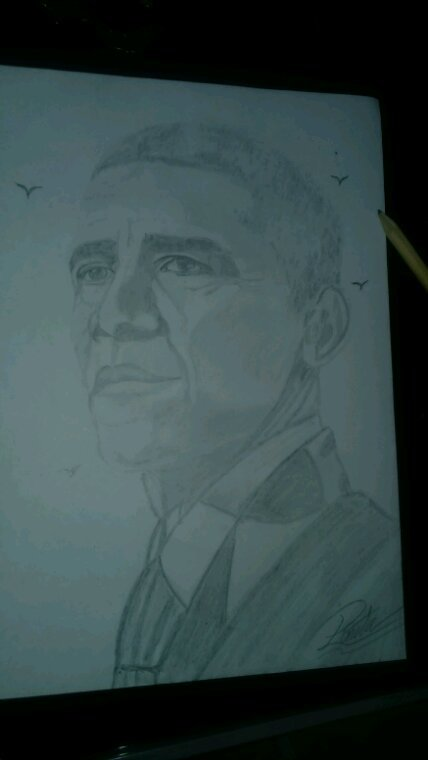Barack Obama by Linda Tatatron <3 ...........!