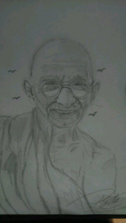Gandhi by Linda Tatatron....!!!!!