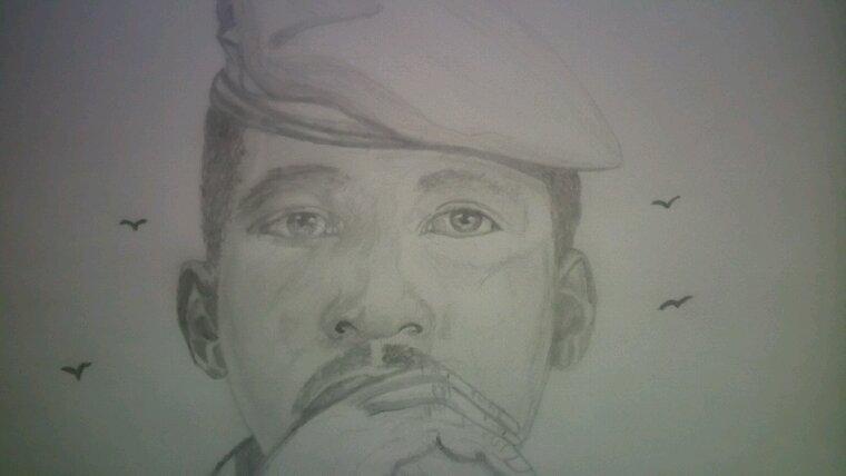 le grand Thomas Sankara by Linda Tatatron !!!!