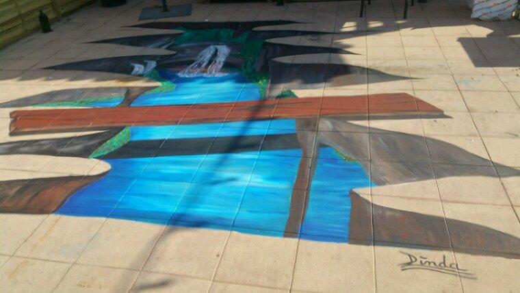 Fresque au sol by linda tatatron .....!