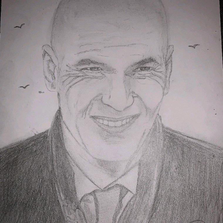 Zinedine Zidane by linda tatatron