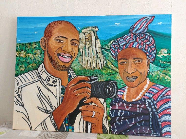 Portrait peinture à l'huile sur toile