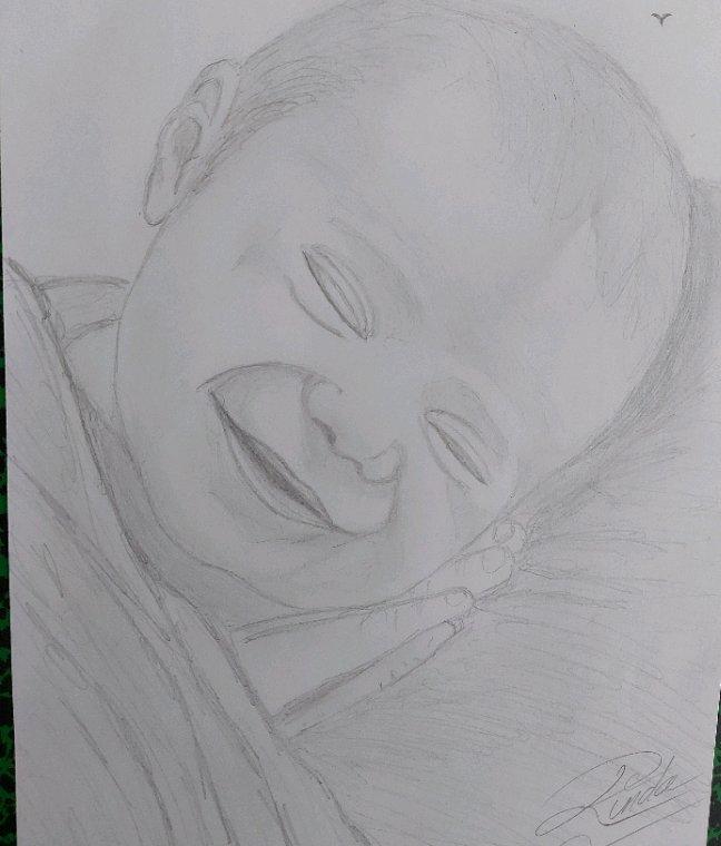 Portrait d'enfant par linda katjounis