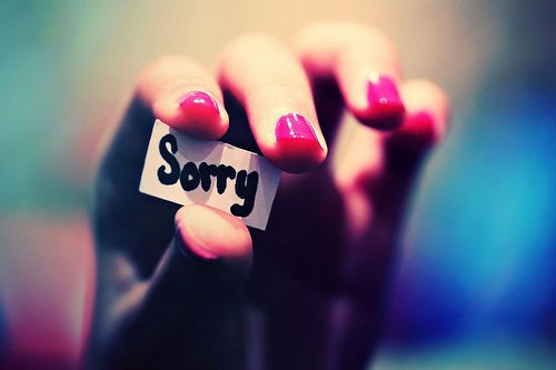 I want you back , and i'm sorry ..