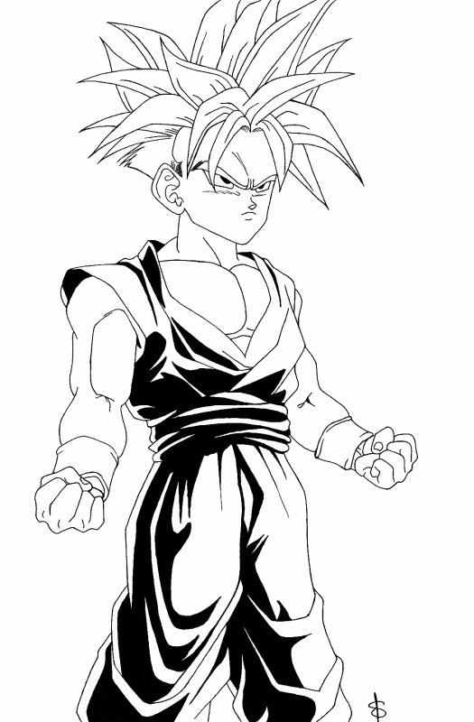Sangohan mes dessins mangas - Dessin sangohan ...