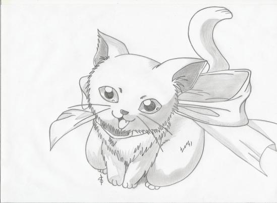 Favori Chaton - Mes dessins mangas!!! NI79