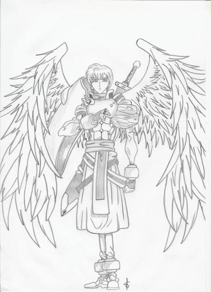 Ange guerrier mes dessins mangas - Ange facile a dessiner ...