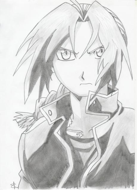 Edward elric de fullmetal alchimist mes dessins mangas - Dessin naruto manga ...