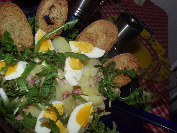 Cueillette et pr paration d 39 une salade de pissenlits 2010 je ne r siste pas la tentation de - Pourquoi on ne coupe pas la salade ...