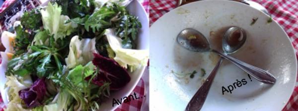 Première salade de pissenlit de l'année...