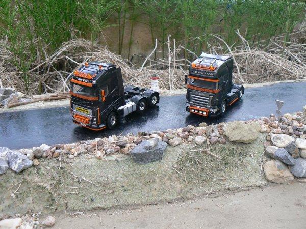 "Volvo FH 4 et Scania R 620 ""Custom"""