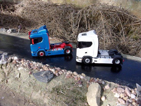 Scania 730 V8 ( WSI ) 4x2 Pose des accessoires et mise en peinture