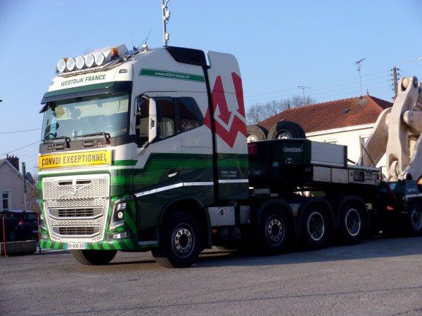 Transport Chargeuse Komatsu WA 800