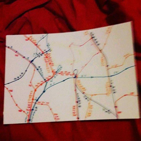 Lignes de tram et bus artistique