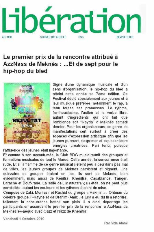 3ezz-Nass sur Journal Libération