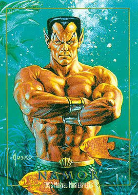 Namor, Prince des Mers (aka Namor, the Sub-Mariner) peinture de Joe Jusko (1992)