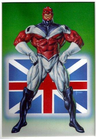 Captain Britain (1992) peinture de Joe Jusko