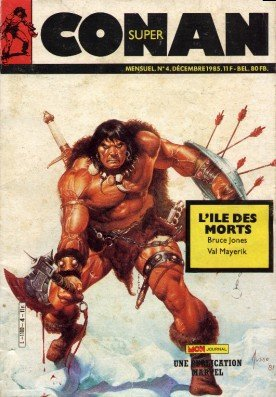 Super Conan 4: L'Ile des Morts (1985), cover par: Joe Jusko