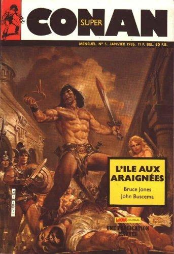 Super Conan 5: L'ile aux Araignées (1986), cover par: Earl Norem