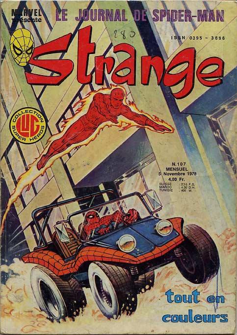 Strange 107 (1978), cover par: Jean Frisano