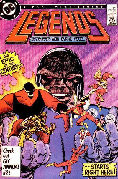 Legends 3 (1986), cover et dessins par: John Byrne